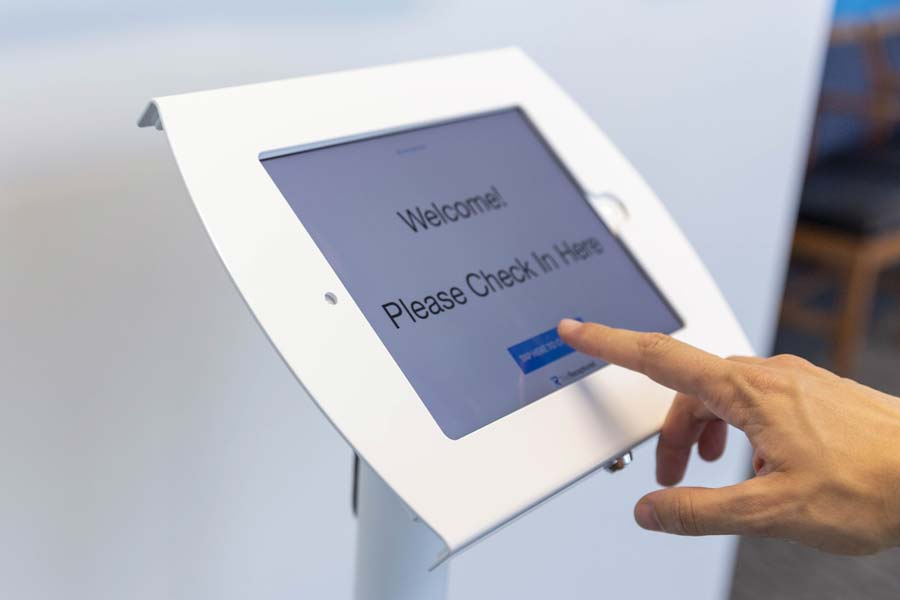 Nexis Wellness digital client check-in